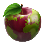 1090487-Clipart-3d-Red-Apple-Globe-With-Green-Continents-Royalty-Free-Vector-Illustration